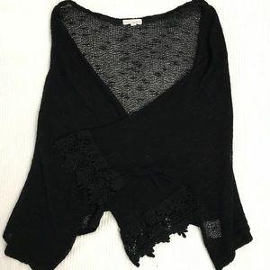 Coco + Jameson XL Boho Crochet Knit Cardigan